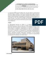 Municipalidad de Sullana Vision y Mision