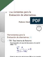 3.2 Evaluación de Alternativas (TIR)