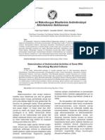 Bazı Yabani Makrofungus Misellerinin Antimikrobiyal Aktivitelerinin Belirlenmesi