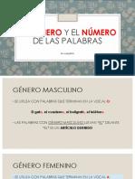 Género y Número de las palabras (ELE)