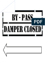 Economiser Damper Closed