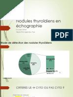 nodules thyroïdes EPU 4 octobre 2018