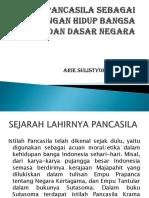 PANCASILA SEBAGAI PANDANGAN HIDUP BANGSA DAN DASAR NEGARA [Autosaved].ppt