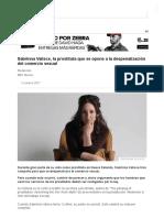 Sabrinna Valisce, La Prostituta Que Se Opone a La Despenalización Del Comercio Sexual - BBC News Mundo