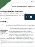 Homeopatía, El Error Fatal de Rosa _ Ciencia _ EL PAÍS