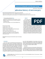 The Clinical Application History of Microsurgery