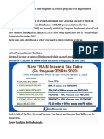 Philippine Tax Reform Program 2018