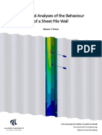 Report Numerical Analyses of the Behaviour of the Sheet Pile Wall