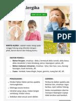 Rhinitis Alergika ( Pilek-Bersin-Hidung Buntu )
