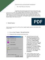 Diktat Penuntun Belajar Microsoft Power Point