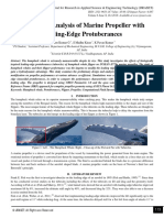 Design and Analysis of Marine Propeller with Leading-Edge Protuberances