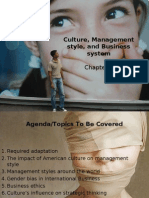 Chapter 5 Culture, Management styles, and Business systems