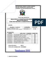 Informe de Avance de Plan de Proyeccion Social 2018