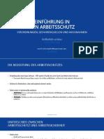 Einführung in die Arbeitssicherheit und den Arbeitsschutz