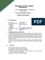Ecologia Ambiental Syllabus