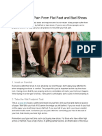 Stopping Foot Pain From Flat Feet and Bad Shoes