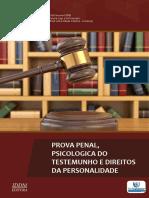 Vol.02-Prova Penal_ Psicologica Do Testemunho e Direitos Da Personalidade
