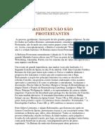 Batistas Não Surgiram Na Reforma