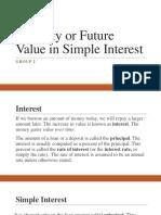 Maturity or Future Value in Simple Interest