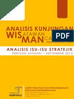 2015 Analisis Kunjungan Wisatawan Mancanegara Pada Kawasan 3 Great (Analisis Isu - Isu Stratejik Periode Januari - September 2015)