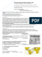 Evaluacion Sumativa Del Proceso Colonial en América y Chile