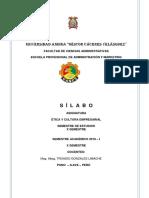 Silabo Etica y Cultura Empresarial x