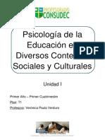 Módulo I - Psicología de La Educación en Diversos Contextos Sociales y Culturales