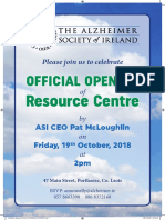 Laois Alzheimer's Branch Official Opening