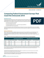 Comparing Federal Government Surveys That Count the Uninsured