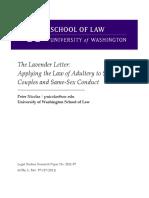The Lavender Letter