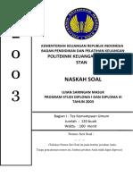 Soal Dan Pembahasan Usm Pkn Stan 2003