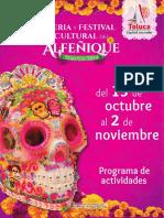 Feria y Festival Cultural del Alfeñique Toluca 2018