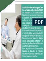 09-10-18 Adrián de la Garza inaugura Centro  de  Salud  en  la  colonia  CROC