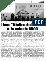 """09-10-18 Llega """"Médico de Barrio"""" a  la colonia CROC"""
