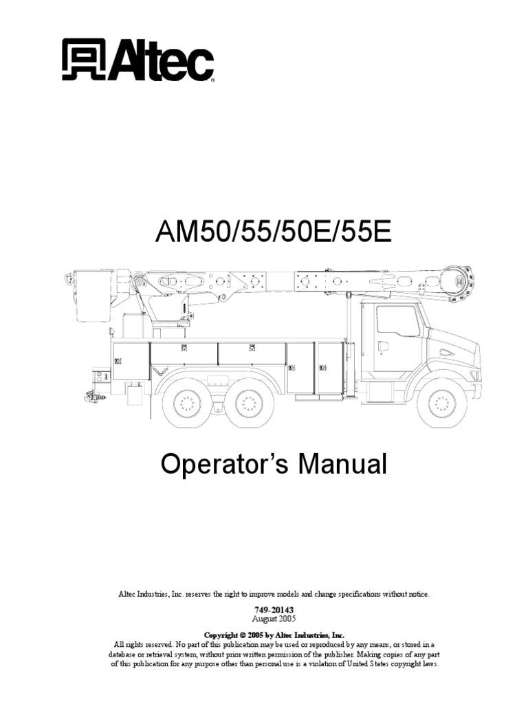 manual del operador altec-AM50-55-50E-55E-O pdf   Insulator