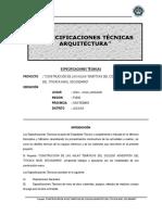 ESPECIFICACIONES TECNICAS ARQUITECTURA