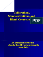 Calibrations and Standardization