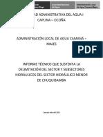 Informe Definitivo Sect Chuquibamba 30 Julio