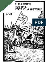 Althusser. Montesquieu. La Política y La Historia