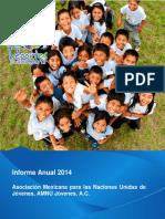 Reporte Anual AMNU Jóvenes 2014