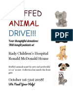 stuffed animal drive flyer- elliott