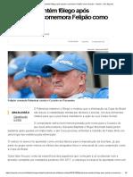 Palmeiras Mantém Fôlego Após Queda e Comemora Felipão Como Escudo