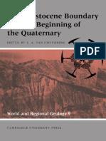 The Pleistocene Boundary and the Beginning of the Quaternary