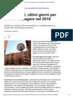 Canone Rai, Ultimi Giorni Per Evitare Di Pagare Nel 2018-Repubblica.it