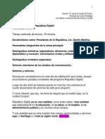 Discurso del ministro de la Presidencia, Gustavo Montalvo, en 4to. acto de lanzamiento del Programa República Digital