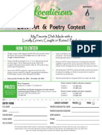 2019 Localicious Art & Poetry Entry Form