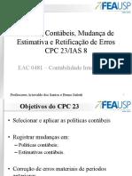 19 - Políticas Contábeis, Mudança de Estimativa e Erro