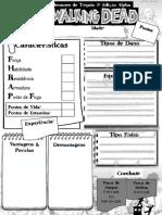 3D&T Alpha - Ficha de Personagem - The Walking Dead - Biblioteca Élfica.pdf