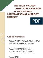 Presentation on New Islamabad International Airport