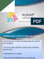 Marco Legal e Instinucional de La Pesca en Colombia